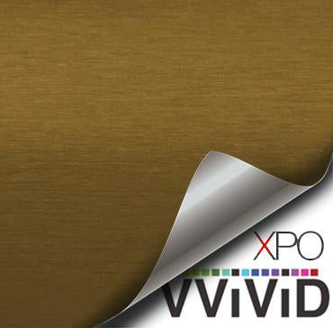 XPO Gold Brushed Steel Vinyl Wrap | Vvivid Canada