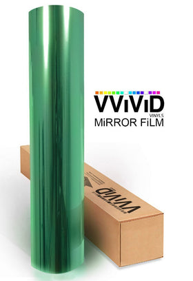 Green One-Way Mirror Finish Window Privacy Vinyl