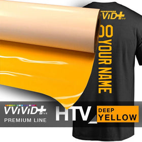 VViViD+ Deep Yellow Premium Line Heat Transfer Vinyl 12