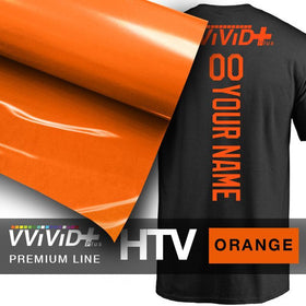 VViViD+ Orange Premium Line Heat Transfer Vinyl 12