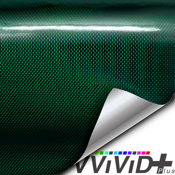 2020 VVIVID+ Holographic Weave Green Gloss - The VViViD Vinyl Wrap Shop