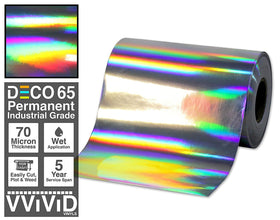 DECO65 Chrome Rainbow Lazer Holographic Permanent Craft Film