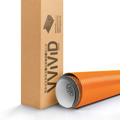 XPO Orange Dry Carbon Vinyl Wrap roll | Vvivid Canada