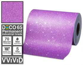 Deco65 Purple Glitter Craft Vinyl