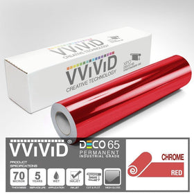 DECO65 Chrome Red Permanent Craft Film
