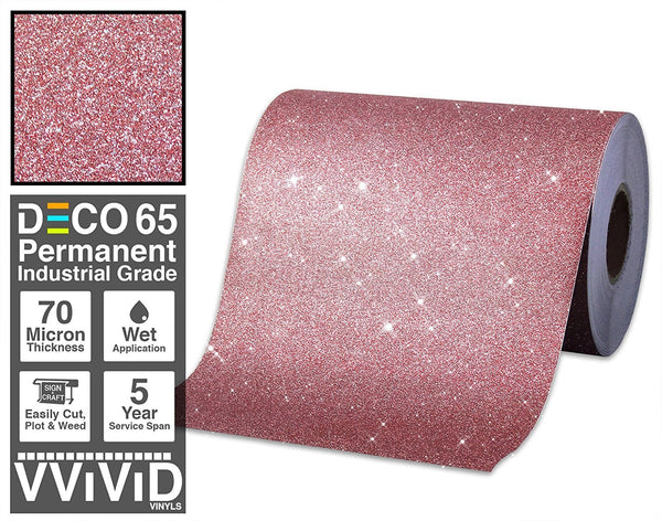 Deco65 Red Glitter Craft Vinyl - The VViViD Vinyl Wrap Shop