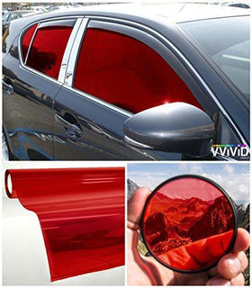 VViViD Red Transparent Window Tint