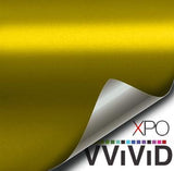 XPO Satin Chrome Gold Vinyl Wrap | Vvivid Canada