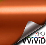 XPO Satin Chrome Orange Vinyl Wrap | Vvivid Canada