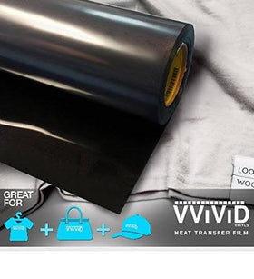 VViViD Black Heavy-Duty Heat Transfer Vinyl 12