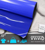 "VViViD Blue Heavy-Duty Heat Transfer Vinyl 12"" x 36"""