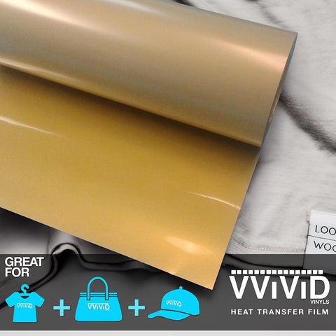 "VViViD Gold Heavy-Duty Heat Transfer Vinyl 12"" x 36"""