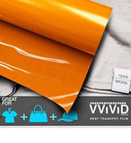 "VViViD Orange Heavy-Duty Heat Transfer Vinyl 12"" x 36"""