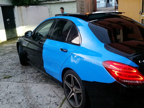 2ft x 5ft VVIVID Glossy Smurf Blue Porsche GT3 Riviera Vinyl Car Wrap Film DIY Easy to Install No-Mess Decal