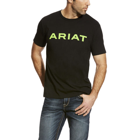 BRANDED TEE - BLK/LIME