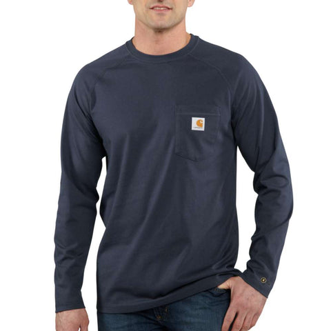 FORCE COTTON LS - NAVY