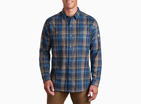 FUGITIVE FLANNEL  BLUE COPPER