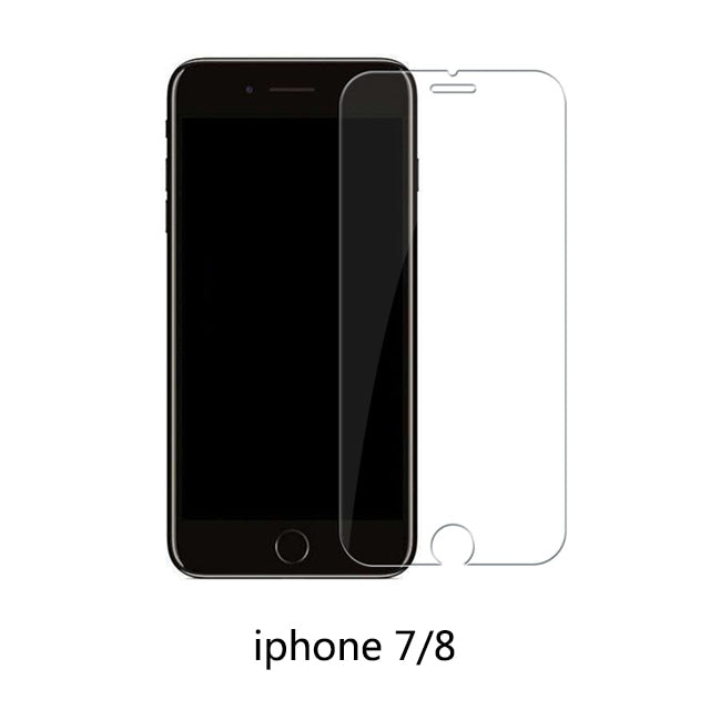 Protective tempered glass for iphone 6 7 5 s se 6 6s 8 plus XS max XR glass iphone 7 8 x screen protector glass on iphone 7 6S 8