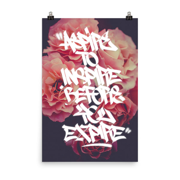 Aspire to Inspire - Graffiti Handstyle Poster