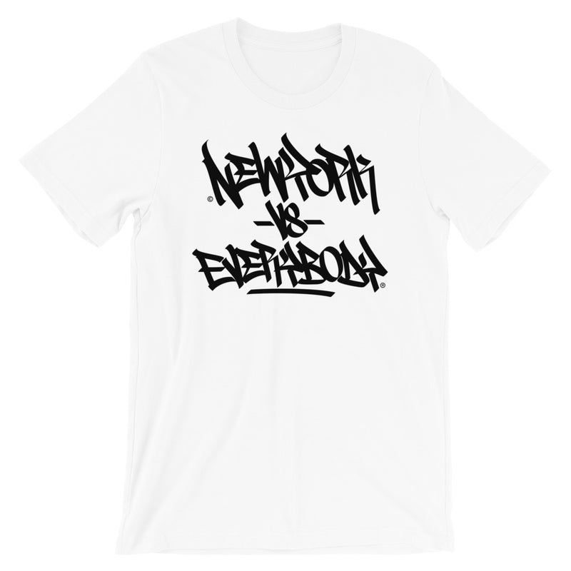 """New York vs Everybody"" Graffiti Handstyle Short-Sleeve Unisex T-Shirt"