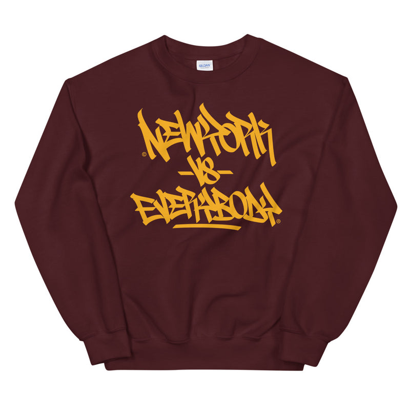 """New York vs Everybody"" Graffiti Handstyle - Crewneck Sweatshirt"
