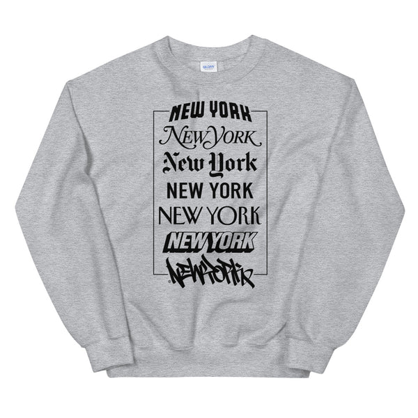 New York Logos - Crewneck Sweatshirt