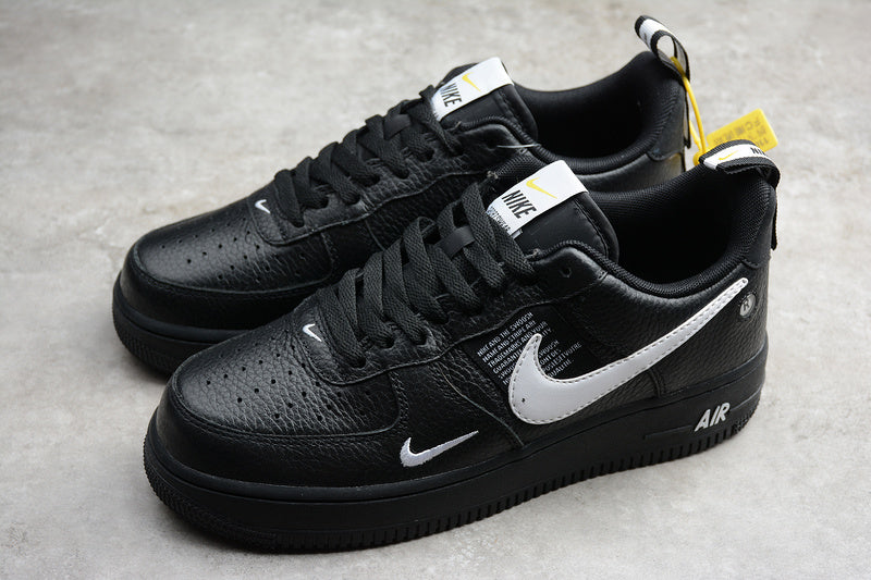 NIKE AIR FORCE 1'07 AF1 Utility Low 07 LV8 Utility Black White Black Tour Yellow Men Women Shoes Low Sneakers Size 36-45 / 5.5-11 AJ7747-001
