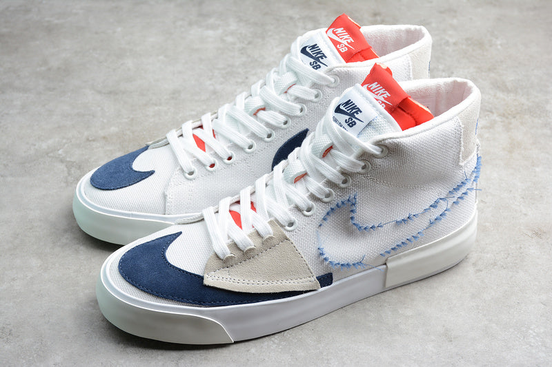 Nike Zoom Blazer SB Mid Edge White Midnight Navy University Red Men Women Shoes Sneakers Size 36-45 / 5.5-11 C13833-100