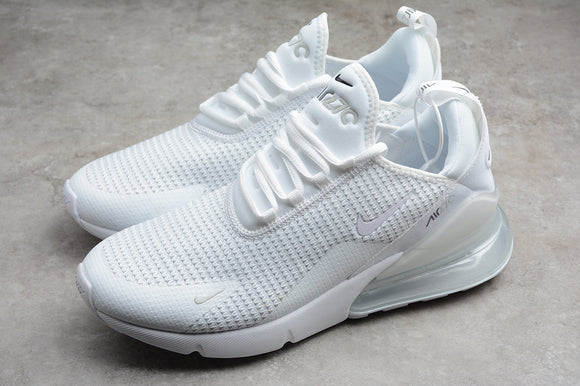Nike Air Max 270 SE All White White Pure Platinum Men's Running Shoes Outdoor Sport AQ9164-101