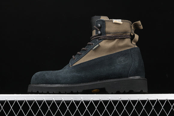 TIMBERLAND MEN Classic MADNESS X Navy Blue Suede Black 6 inch Premium Boots Waterproof TBA1UJ4F49
