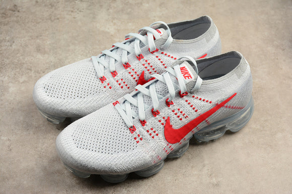 Nike Air VaporMax Flyknit 2018 Pure Platinum Wolf Grey University Red Men Women Shoes Sneakers 849557-060 849558-006