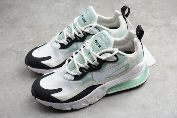 Nike AIR MAX 270 React Spruce Aura White Black Women Sneakers Shoes Size 36-40 / 5.5-8.5 CI3899-001