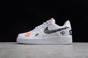 Nike Air Force 1 '07 Low PRM AF1 Just Do it White Orange Joint Name Men Sneakers Shoes AR7719-100