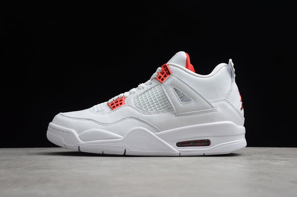 Nike Air Jordan 4 Retro White Metallic Silver University Red Men Shoes Sneakers Size 40-47.5 / 7-13.5 CT8527-112