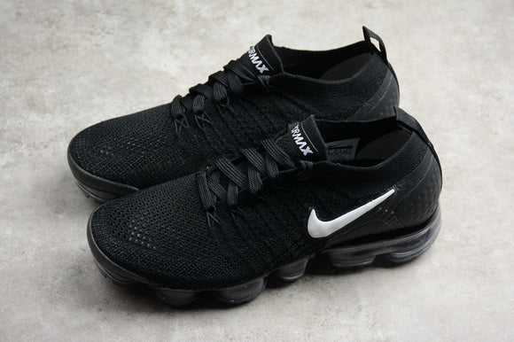 Nike Air Vapormax FLYKNIT 2.0 2018 Black White Dark Grey Men's Running Shoes Sneakers 942842-001