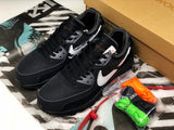Nike AIR Max 90 Off White Black Black Cone White Men Women Shoes Sneakers Size 36-45 / 5.5-11 AA7293-001
