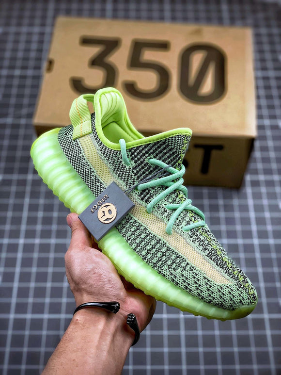 Adidas YEEZY BOOST 350 V2  Yeezreel Yeezreel Yeezreel Green Men's Women's Running Shoes Sneakers FX4130