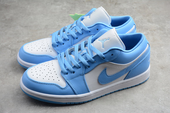 Nike AIR JORDAN 1 Low UNC University Blue White Men Women Shoes Sneakers AO9944-441