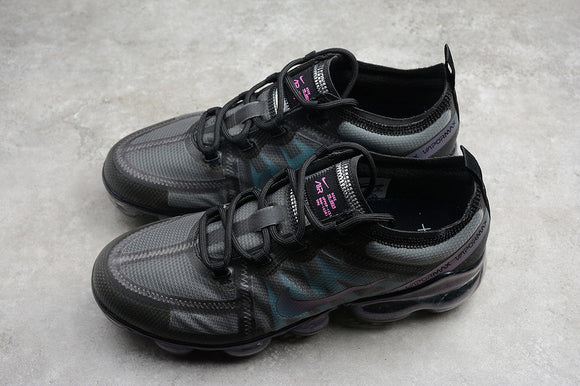 Nike Air Vapormax 2019 Black Ash Jade Blue / Throwback Black Laser Fuchsia Men's Women's Running Shoes Sneakers AR6631-001