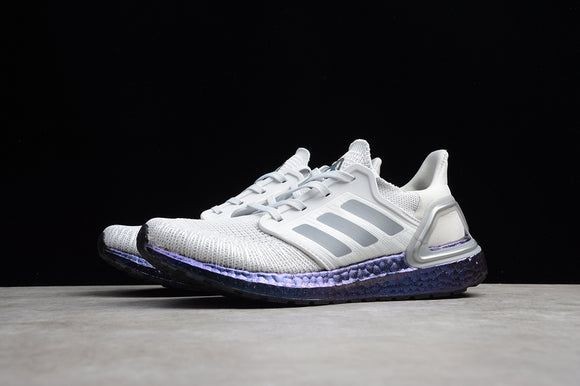 Adidas UB6.0 Adidas Ultra BOOST 20 CONSORTIUM White Purple Men Running Shoes Sneakers EG0755