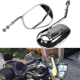 1 Pair Motorcycle CNC Aluminum Rearview Side Mirrors Moto For Harley Dyna Road King Touring XL 883 - 88digital