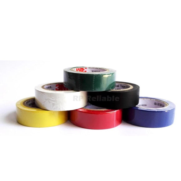 1 Roll (18mm *10 meters*0.13mm) 3M Insulation Vinyl Electrical Tape Fireproof for  Wire Cable Mark Isolate, Leaded Free - 88digital