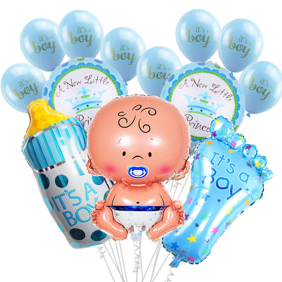 1 Set Baby Shower Baby Boy Girl Foil Balloon boy girl Baby Shower Balloons Kids 1st Birthday Party Decorations supplies - 88digital
