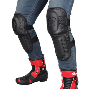 1 pair Herobiker Motocross Riding Shatter-resistant Knee Pads Elbow Four-piece Skating Sporting Outdoor Sports Knee Pads Short - 88digital