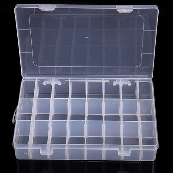 10/15/24/36 Grids Adjustable Plastic Jewelry Beads Pills Nail Tips Storage Box Case Container Organizer Container Home Supplies - 88digital