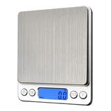 1000g/ 0.1g LCD Digital Scales Electronic Stainless Steel Precision Jewelry Scales Weighing Device with Backlight - 88digital
