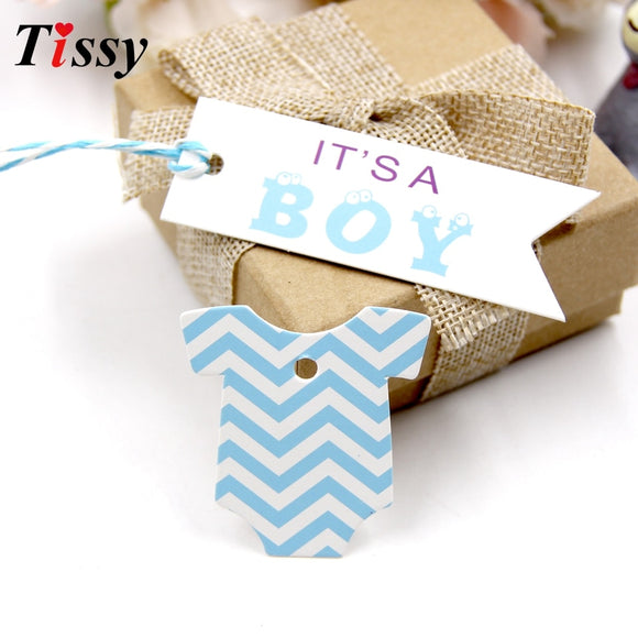 100PCS Boy&Girl Paper Tags Creative Paper Card Tag Labels DIY Crafts For Baby Birthday Party Decorations Baby Shower Supplies - 88digital