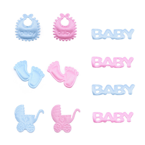 100Pcs Blue Pink Baby Shower Table Confetti Kids Birthday Party Footprint Pacifier Sprinkles Baby Shower Boy Girl Decoration - 88digital