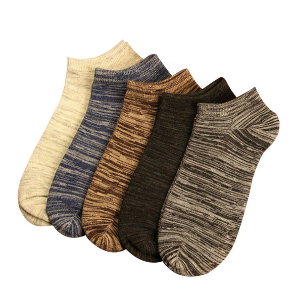 10pcs=5 Pairs New 2019 Men Short Socks Vintage Nation Style Casual Ankle Socks Men's Low Cut Absorb Sweat Male Boat Socks - 88digital