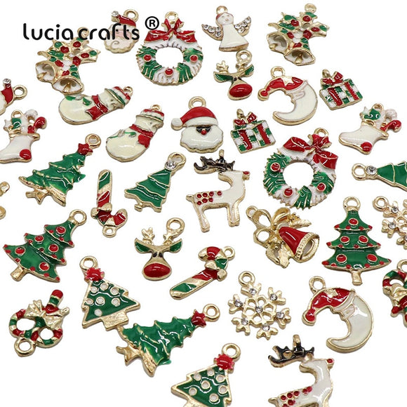 13PCS/19PCS Creative Christmas Pendant Ornaments DIY Metal Crafts Xmas Tree Christmas Party Wedding Decorations Kids Gift - 88digital